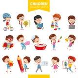 Ejemplo del vector de los niños de la historieta ilustración del vector