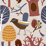Ejemplo del vector de los pájaros del bosque Imagen de archivo libre de regalías