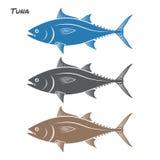 Ejemplo del vector de los pescados de atún Fotografía de archivo