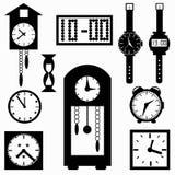 Ejemplo del vector de los símbolos del reloj Fotografía de archivo libre de regalías