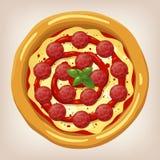 Ejemplo del vector de los salchichones de la pizza Fotos de archivo libres de regalías