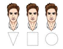 Ejemplo del vector de los tipos de la cara Foto de archivo libre de regalías