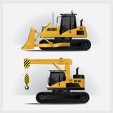 Ejemplo del vector de los vehículos de la construcción Fotografía de archivo libre de regalías