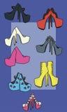 Ejemplo del vector de los zapatos libre illustration