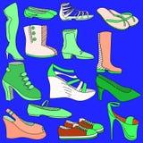 Ejemplo del vector de los zapatos stock de ilustración