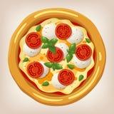Ejemplo del vector de Margherita de la pizza Fotografía de archivo libre de regalías