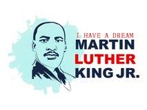 Ejemplo del vector de Martin Luther King Day stock de ilustración