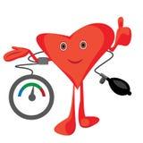 Ejemplo del vector de medición de la presión arterial foto de archivo libre de regalías