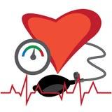 Ejemplo del vector de medición de la presión arterial fotos de archivo libres de regalías