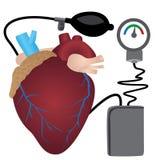 Ejemplo del vector de medición de la presión arterial foto de archivo