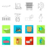 Ejemplo del vector de mercancías y de la muestra del cargo Sistema de mercancías y del símbolo común del almacén para el web ilustración del vector