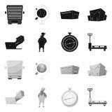 Ejemplo del vector de mercancías y del símbolo del cargo Colección de mercancías y de ejemplo común del vector del almacén libre illustration