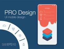 Ejemplo del vector de pantallas y del concepto del web stock de ilustración