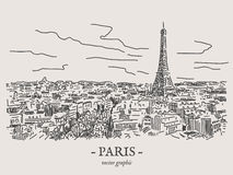 Ejemplo del vector de París Fotos de archivo