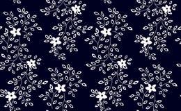 Ejemplo del vector de pequeñas flores blancos y negros Modelo inconsútil Fotos de archivo