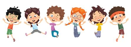 Ejemplo del vector de personajes de dibujos animados ilustración del vector