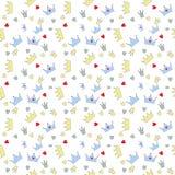 Ejemplo del vector de príncipe Seamless Pattern Background Imagenes de archivo