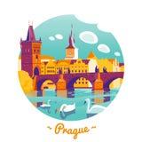 Ejemplo del vector de Praga ilustración del vector