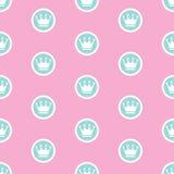 Ejemplo del vector de princesa Seamless Pattern Background Imagen de archivo