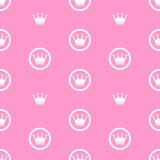 Ejemplo del vector de princesa Seamless Pattern Background Fotografía de archivo