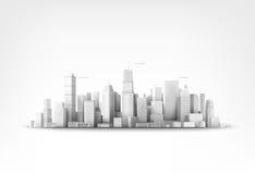 Ejemplo del vector de skyscrappers ilustración del vector