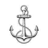 Ejemplo del vector de un ancla náutica Foto de archivo libre de regalías