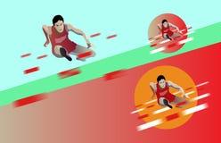 Ejemplo del vector de un atleta corriente ilustración del vector