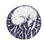 Ejemplo del vector de un bosque del hada-cuento Imagen de archivo libre de regalías