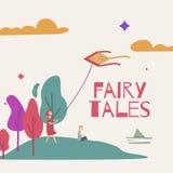 Ejemplo del vector de un bosque mágico para un libro de cuentos de hadas libre illustration
