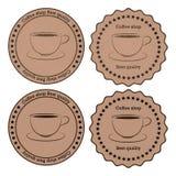 Ejemplo del vector de un café de la bandera Stock de ilustración