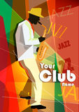 Ejemplo del vector de un cartel del jazz con Fotografía de archivo libre de regalías