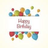 Ejemplo del vector de un feliz cumpleaños Imagenes de archivo