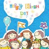 Ejemplo del vector de un feliz cumpleaños Imagen de archivo