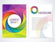 Ejemplo del vector de un folleto colorido Imagenes de archivo