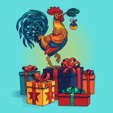 Ejemplo del vector de un gallo Imagen de archivo libre de regalías