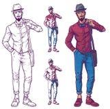 Ejemplo del vector de un individuo de moda Imagen de archivo libre de regalías