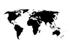 Ejemplo del vector de un mapa del mundo Foto de archivo libre de regalías