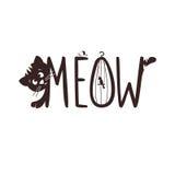 Ejemplo del vector de un pequeño gatito El maullido del gato s Imagen de archivo libre de regalías