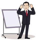 Ejemplo del vector de un personaje de dibujos animados del color Foto de archivo libre de regalías