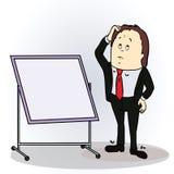 Ejemplo del vector de un personaje de dibujos animados del color Imagenes de archivo