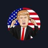 Ejemplo del vector de un retrato de Donald John Trump Fotografía de archivo