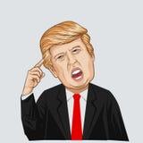 Ejemplo del vector de un retrato de Donald John Trump Imágenes de archivo libres de regalías