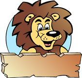 Ejemplo del vector de un rey orgulloso del león Fotografía de archivo libre de regalías