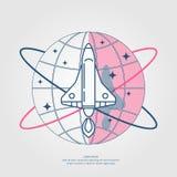 Ejemplo del vector de un Rocket ilustración del vector
