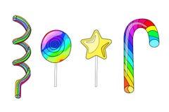 Ejemplo del vector de un sistema de dulces en los palillos libre illustration