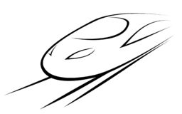 Ejemplo del vector de un tren de alta velocidad fotografía de archivo