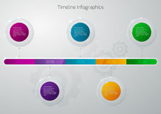 Ejemplo del vector de un vidrio del infographics de la cronología ilustración del vector