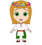 Ejemplo del vector de una niña linda libre illustration