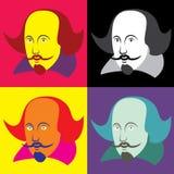 Ejemplo del vector de William Shakespeare en estilo de la historieta ilustración del vector