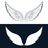 Ejemplo del vector de Wing Icon aislado Imagenes de archivo